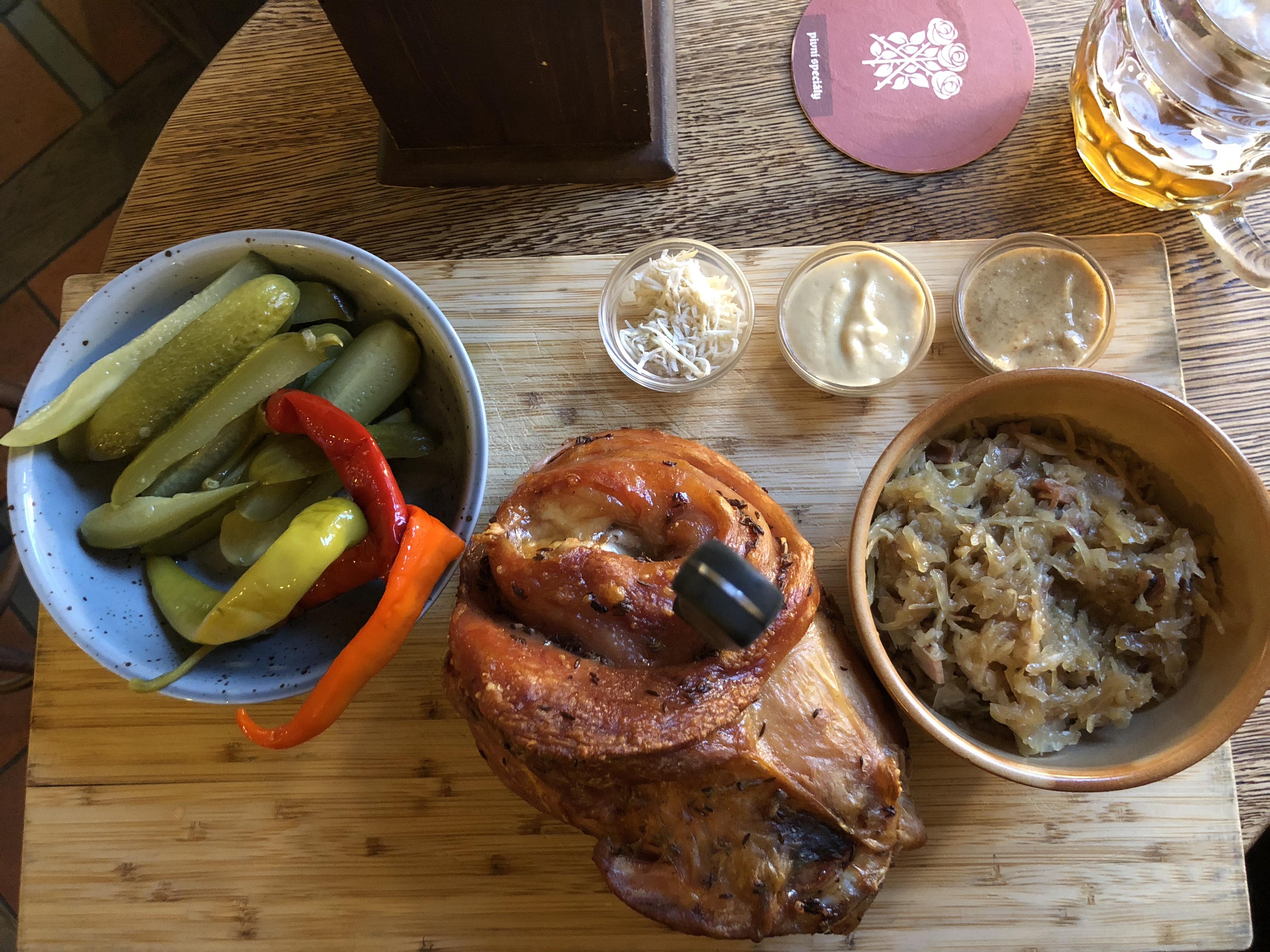 Pork Knuckle at Pivovar U Tří růží