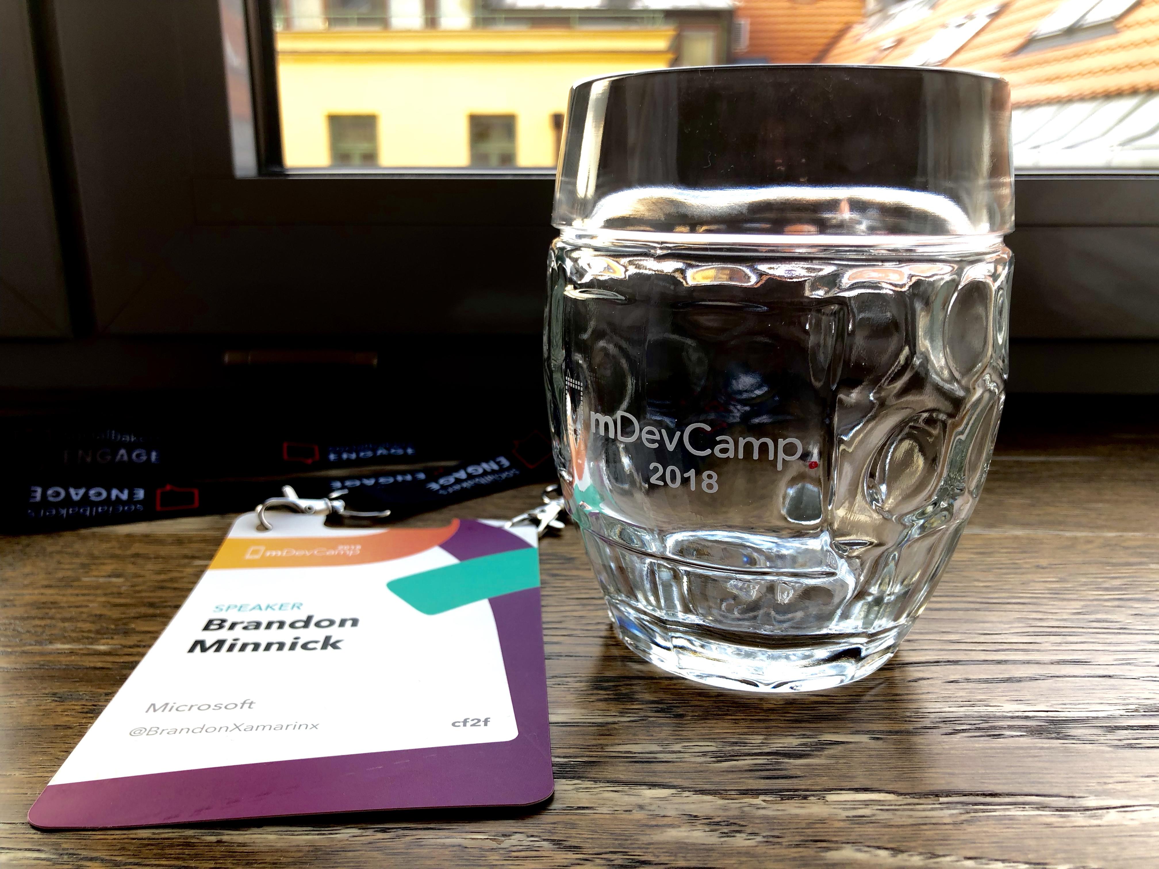 mDevCamp Speaker Gifts