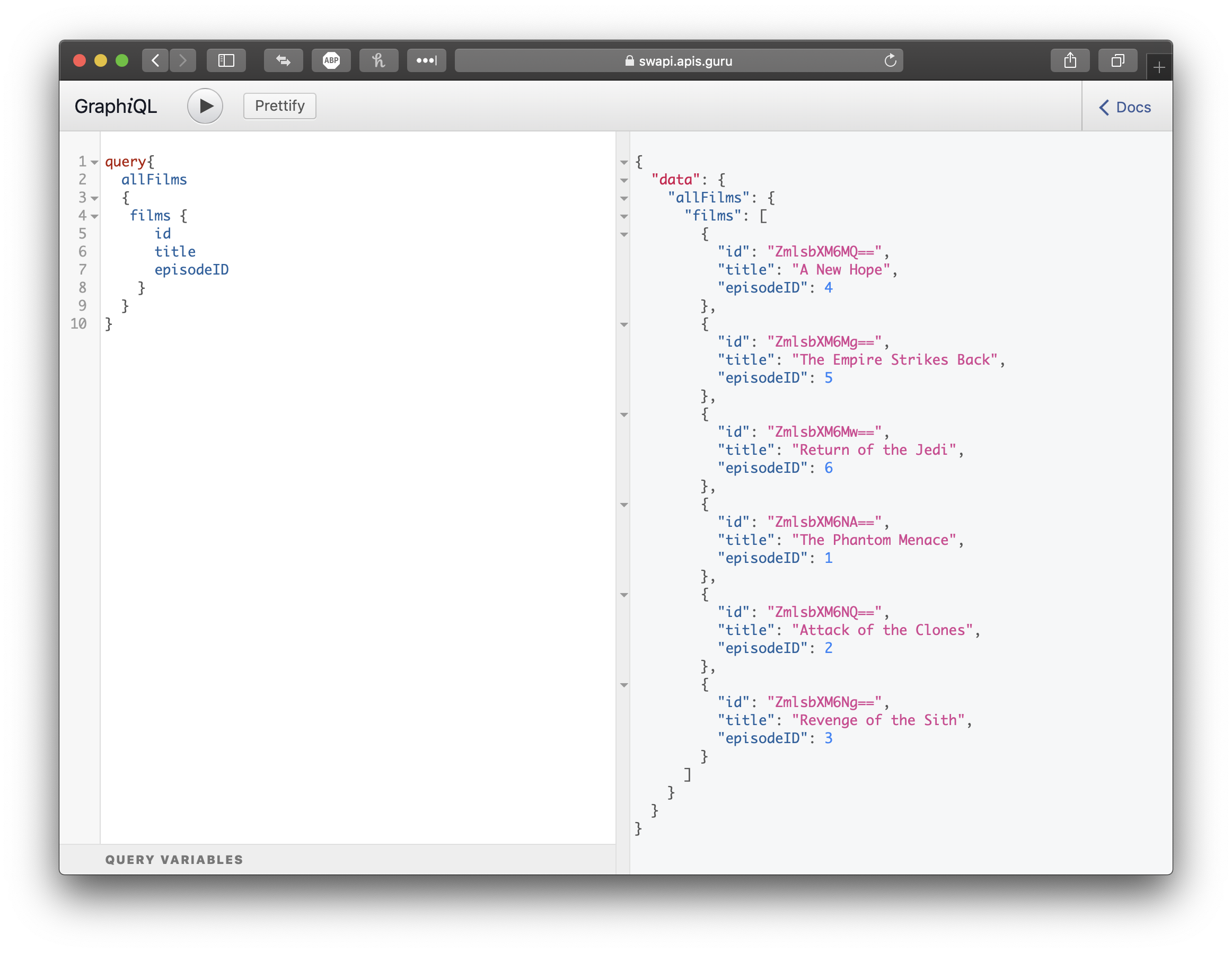 Using Postman with GraphQL APIs